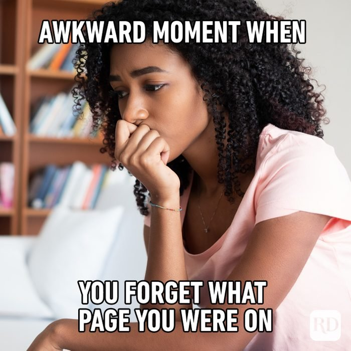 Awkward Moment When You Forget What Page You Were On