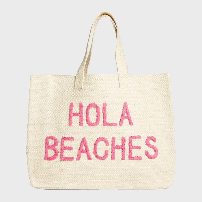 Btb Los Angeles Hola Beaches Straw Tote