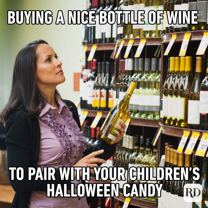 Buying A Nice Bottle Of Wine To Pair With Your Children's Halloween Candy