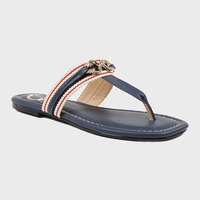 C. Wonder Lobelia Horsebit Thong Sandal