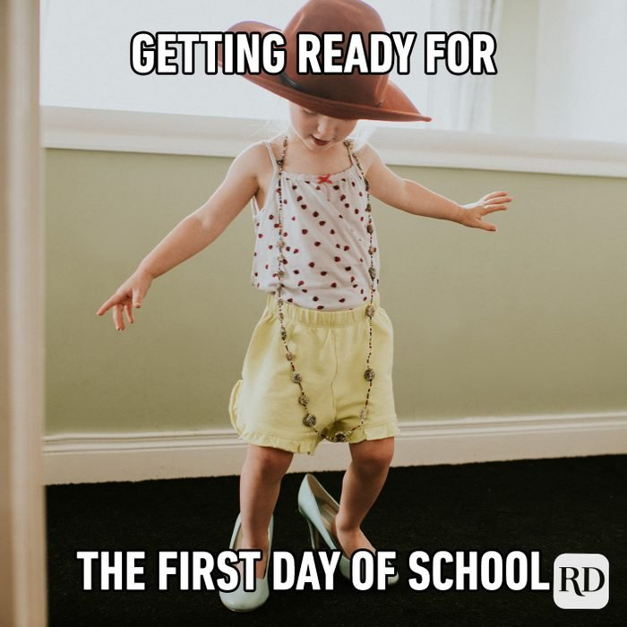Getting Ready For The First Day Of School
