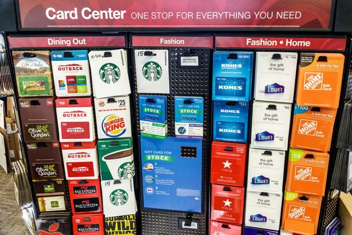 gift cards in store
