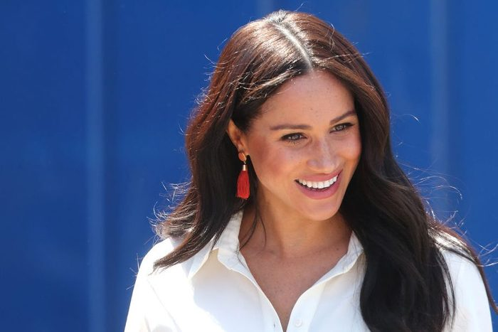 Meghan, Duchess of Sussex visits a township with Prince Harry, Duke of Sussex to learn about Youth Employment Services