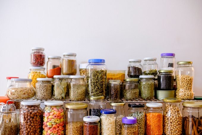 air sealed dry food containers for the pantry