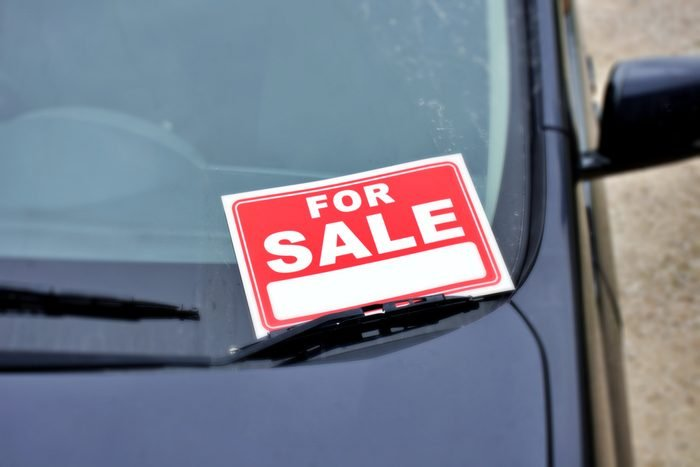 Car with For Sale Sign
