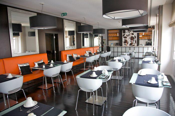 Restaurant at International Design Hotel, Lisbon, Portugal
