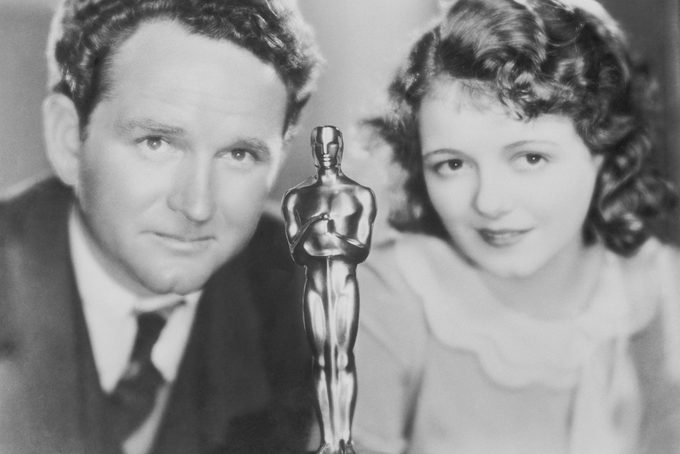 Janet Gaynor and Frank Borzage with Academy Award