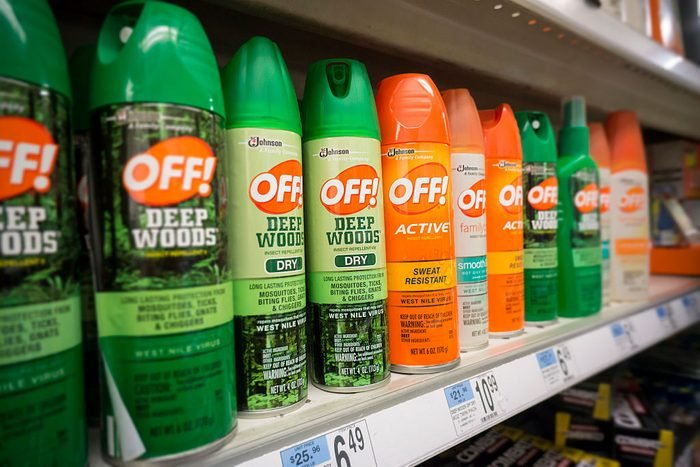 Containers of OFF! brand insect repellent on a store shelf in New York on Thursday, January 28, 2016. The World Health Organization warns that the Aedes aegypti mosquito-borne Zika virus is spreading rapidly and now can be found from Argentina to the Southern United States. The virus can cause microcephaly and other problems in fetuses when contracted by pregnant mothers. (�� Richard B. Levine) (Photo by Richard Levine/Corbis via Getty Images)