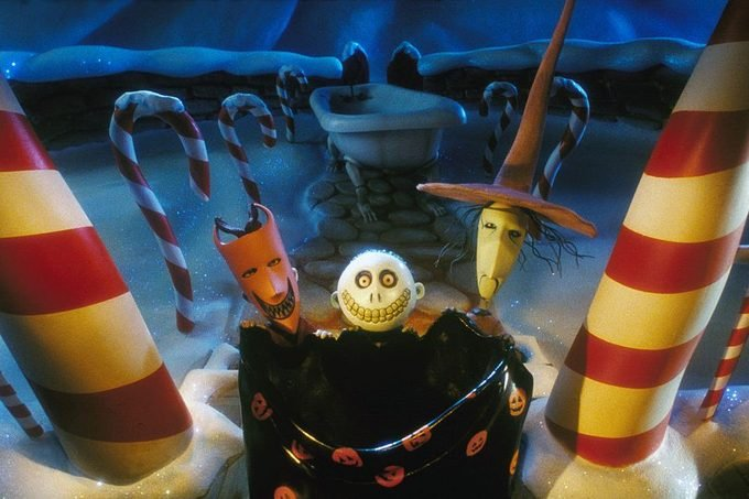 On the set of The Nightmare Before Christmas
