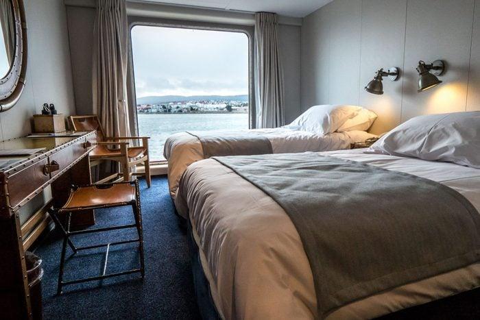 Luxury cruise ship room