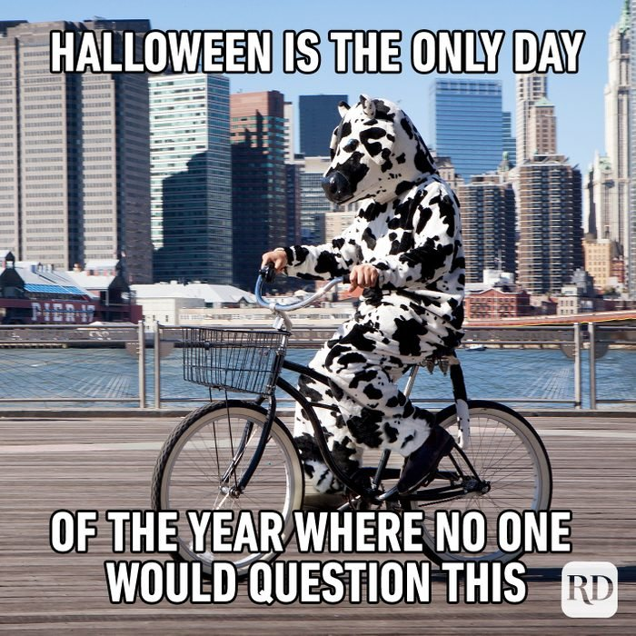 Halloween Is The Only Day Of The Year Where No One Would Question This