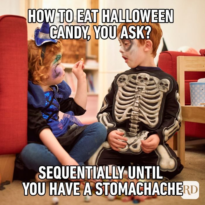 How To Eat Halloween Candy, You Ask? Sequentially Until You Have Stomachache