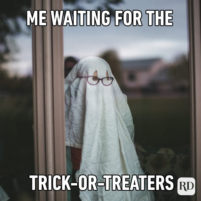 Me Waiting For The Trick Or Treaters