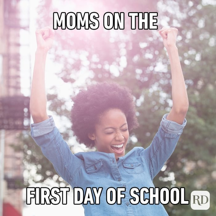 Mom's On The First Day Of School