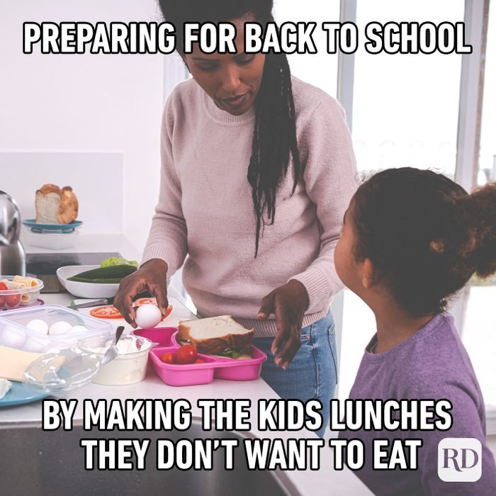 """Preparing For """"back To School"""" By Making The Kids Lunches They Don't Want To Eat"""