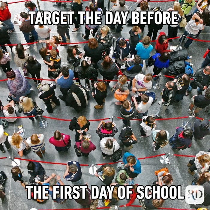 Target The Day Before The First Day Of School