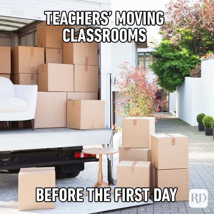 Teacher's Moving Classrooms Before The First Day