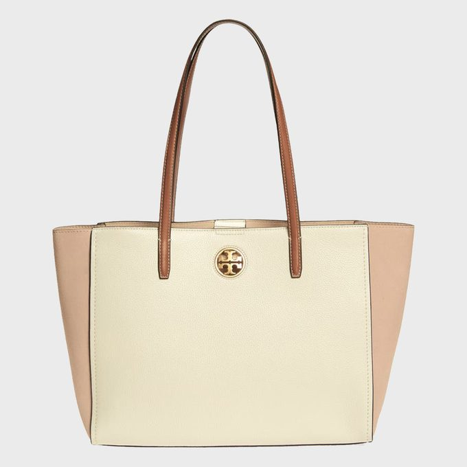 Tory Burch Carson Colorblock Leather Tote