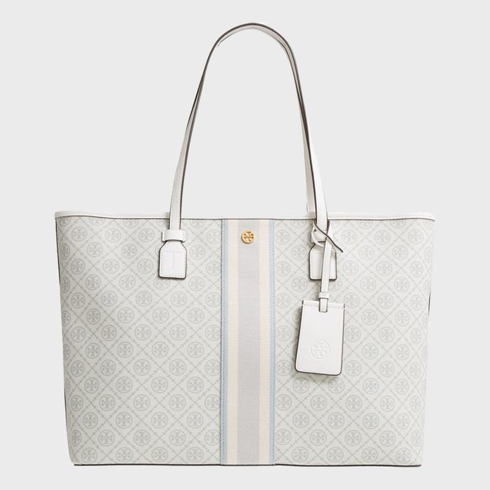 Tory Burch Monogram Coated Canvas Tote