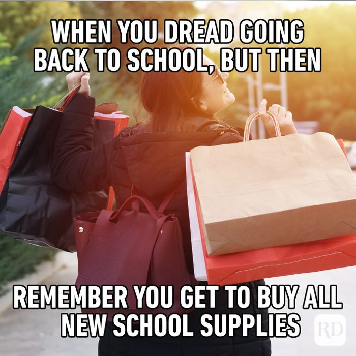 When You Dread Going Back To School, But Then Remember You Get To Buy All New School Supplies