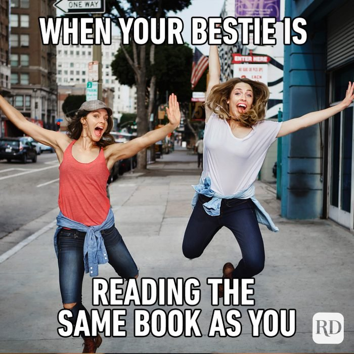 When Your Bestie Is Reading The Same Book As You