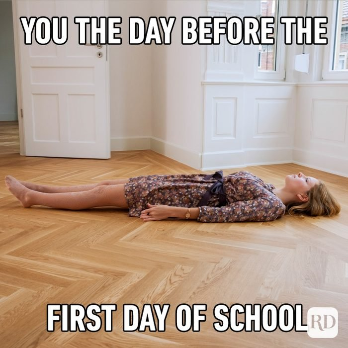 You The Day Before The First Day Of School