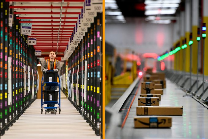 Amazon Fulfillment Center Side By Side