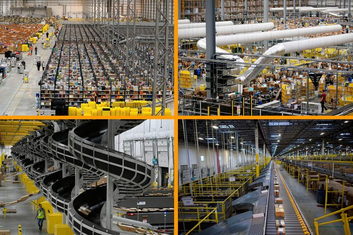 Amazon Fulfillment Centers Grid Collage