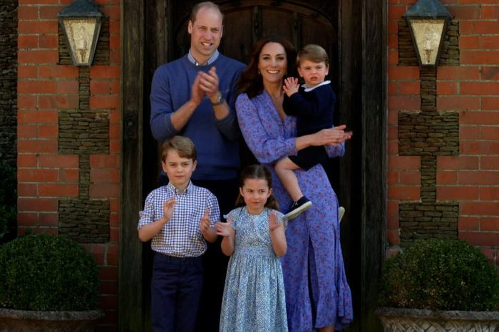 Prince William, Duke of Cambridge, Catherine Duchess of Cambridge, Prince George of Cambridge, Princess Charlotte of Cambridge and Prince Louis of Cambridge