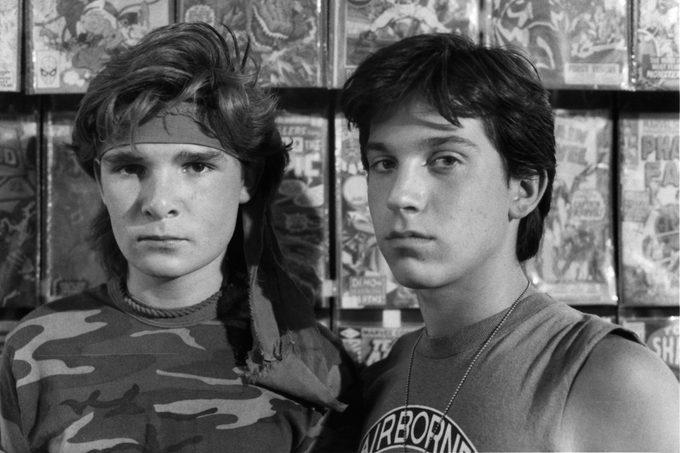 Corey Feldman And Jamison Newlander In 'The Lost Boys'