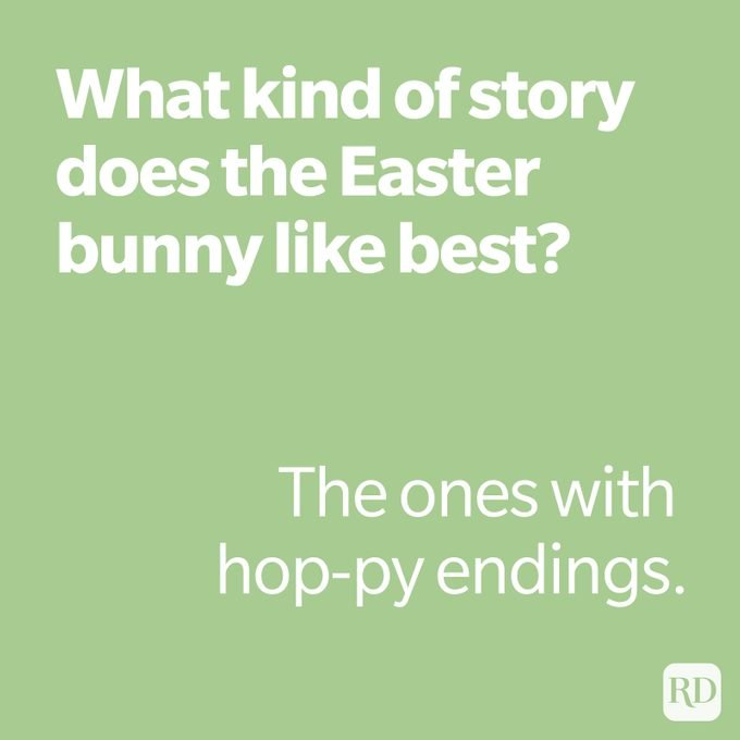What kind of story does the easter bunny like best?
