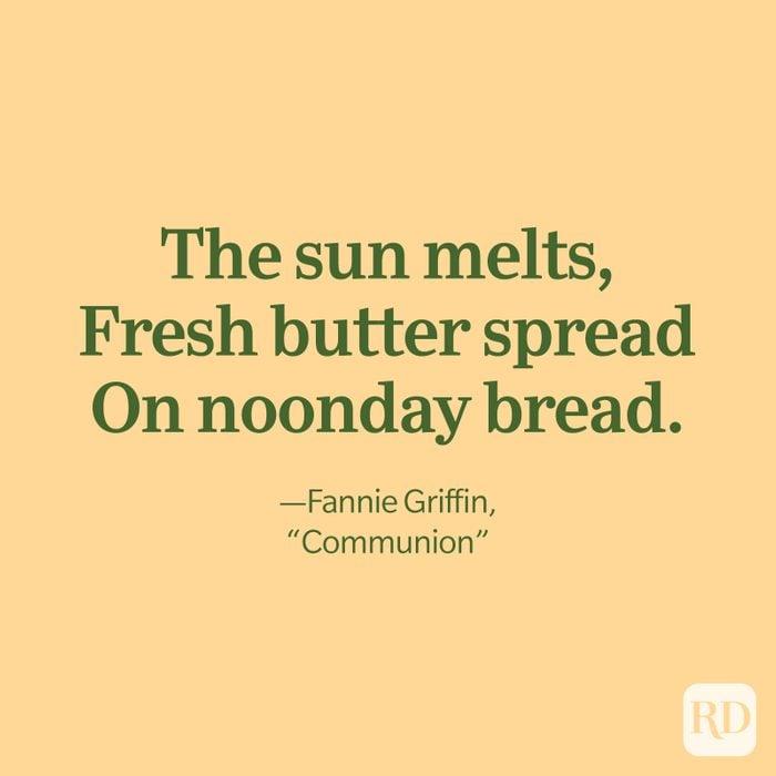 Fannie Griffin Quote, Communion