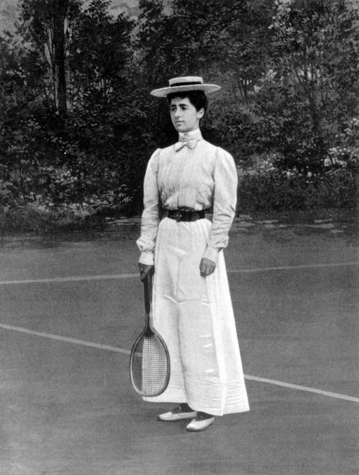 Helene Provost won the silver medal of tennis women's singles at the Paris Olympic Games in 1900