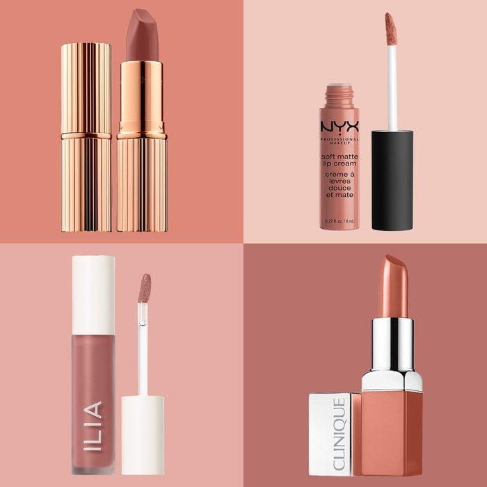 Nude Lipsticks square colorblock