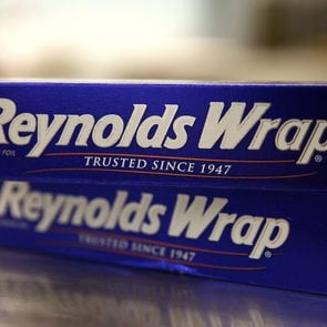 close up of two boxes of Reynolds Wrap aluminum foil