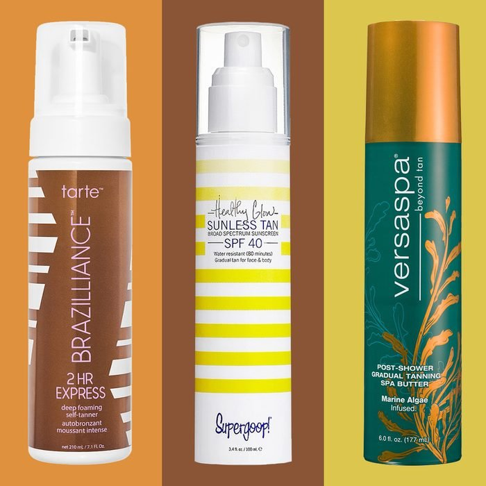 Sunless Self Tanners Colorblock background