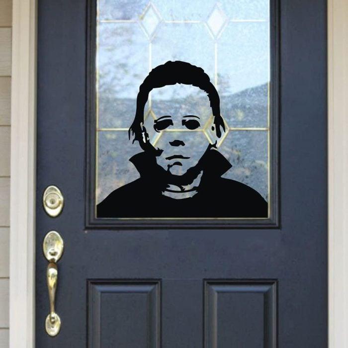 scary halloween window decal
