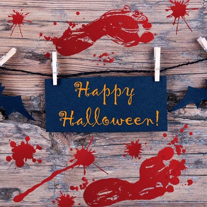 bloody halloween footprint decorations