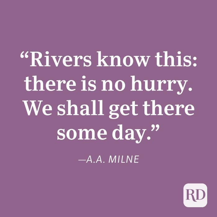 A.A. Milne Patience Quote