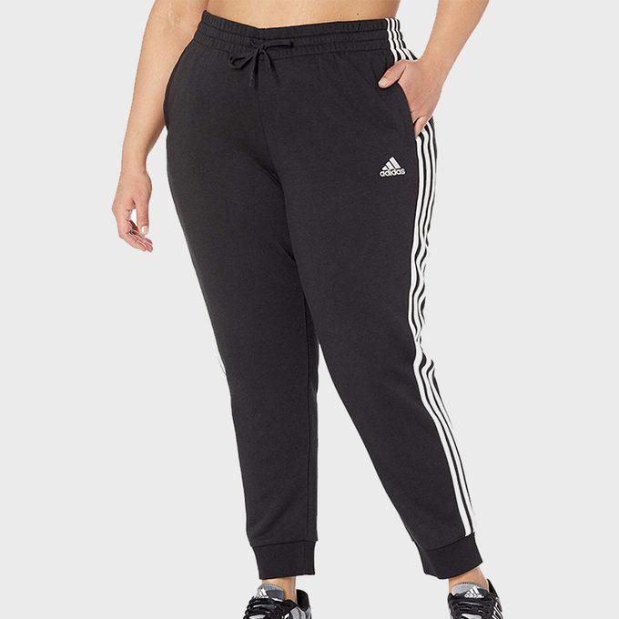 Adidas Plus Size 3 Stripe Cropped Pants