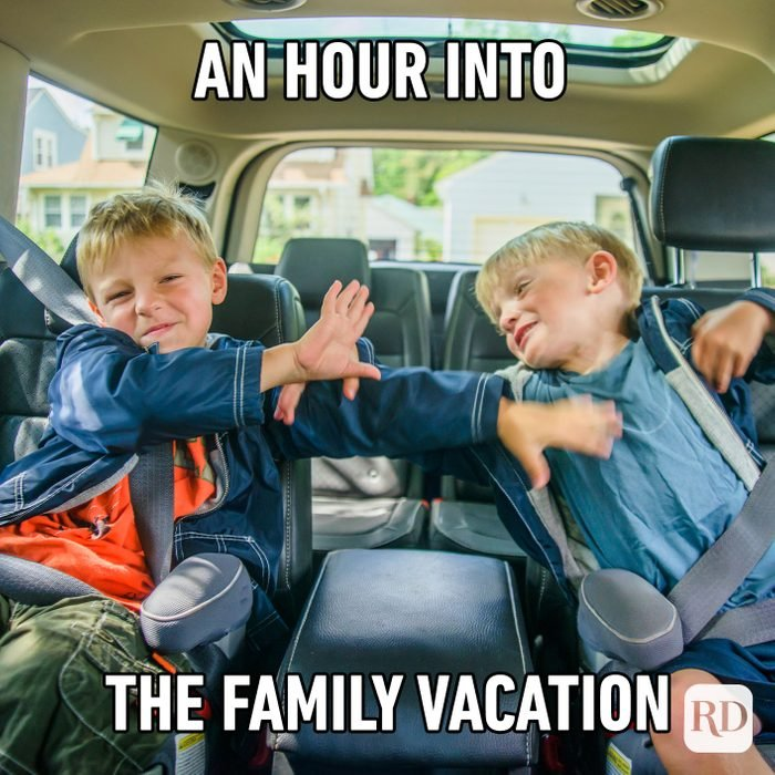 An Hour Into The Family Vacation