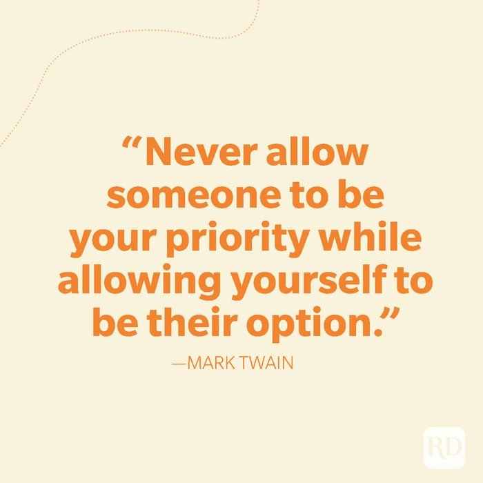 21-Never allow someone to be your priority while allowing yourself to be their option