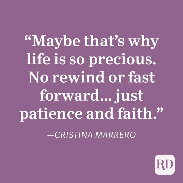 Cristina Marrero Patience Quote