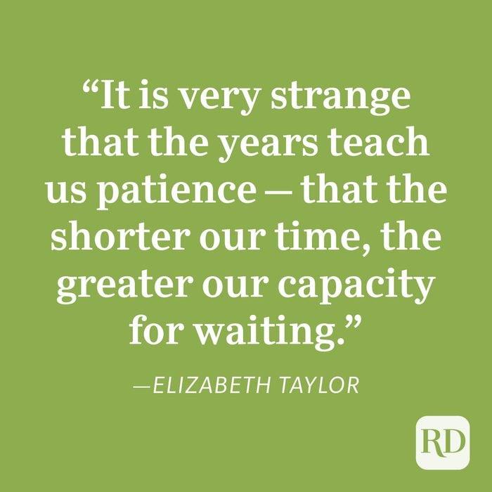 Elizabeth Taylor Patience Quote