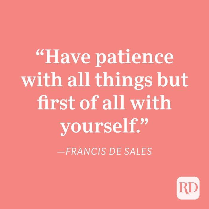 Francis De Sales Patience Quote