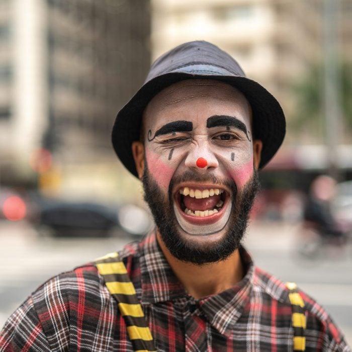 funny clown halloween costume