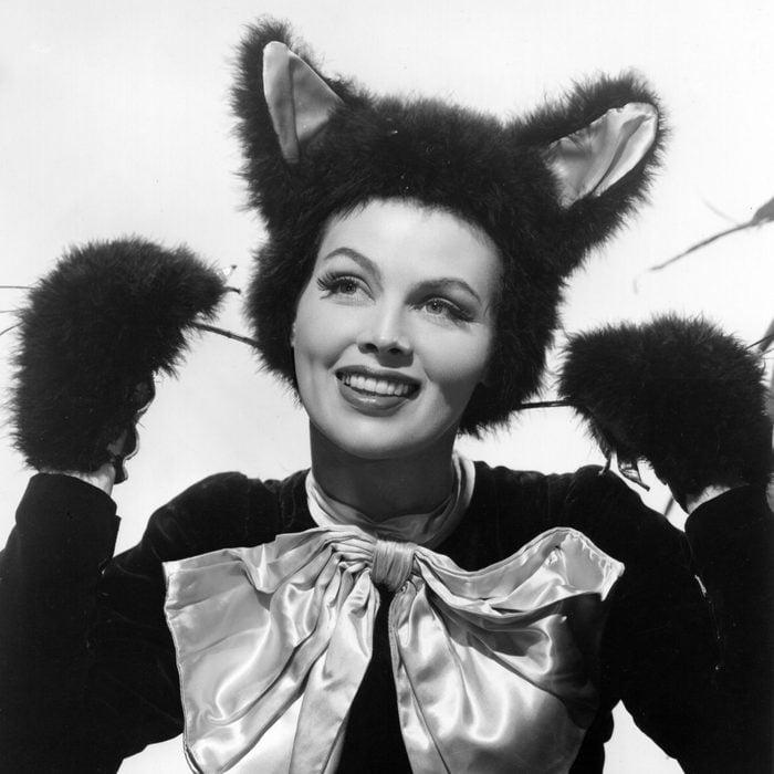 Dusty Anderson in Halloween cat costume