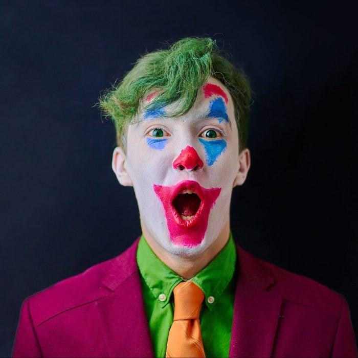 halloween joker face paint