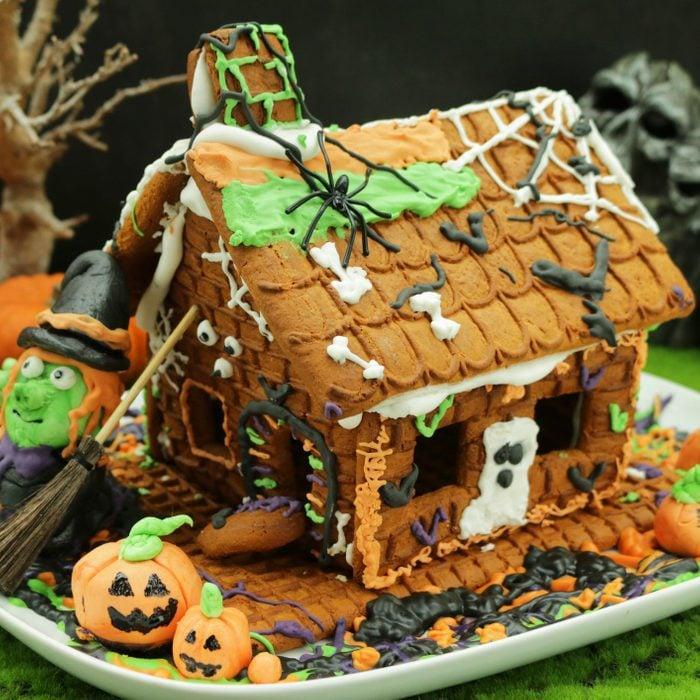homemade halloween spooky gingerbread house