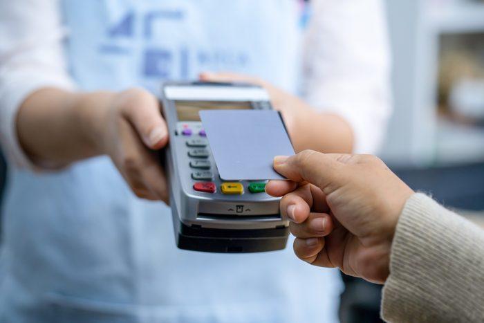Contactless payment at an amusement park